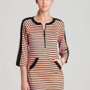 Nanette Lepore Striped Swim Dress Size M
